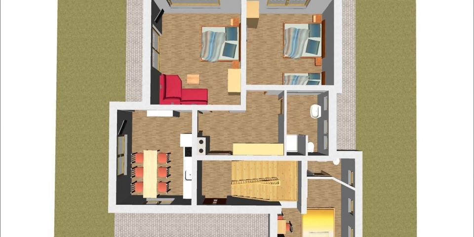 Ferienhaus – EG 3D