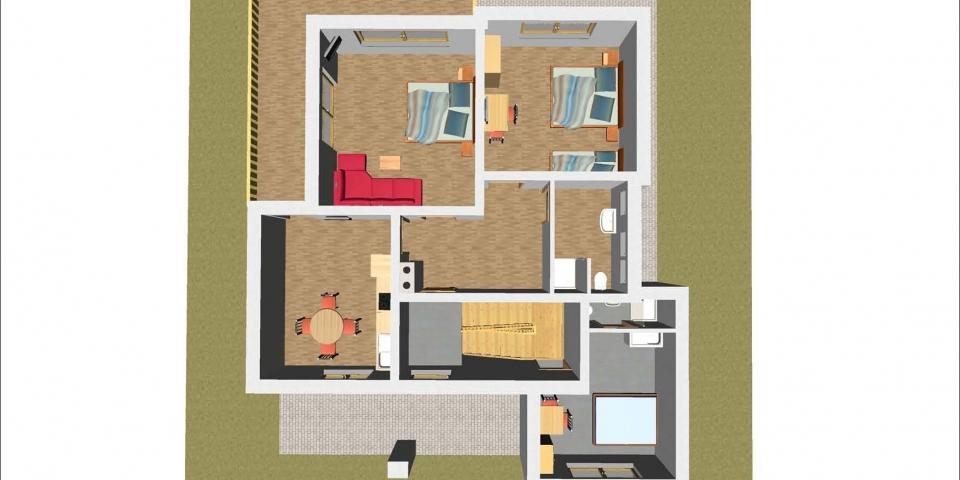 Ferienhaus – OG 3D